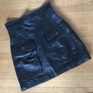 H&M Butter Soft Leather Skirt with Pockets